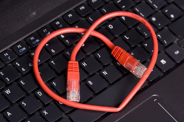 cyber heart love abstract
