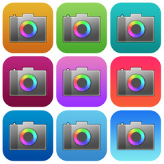 Apps photo icon set