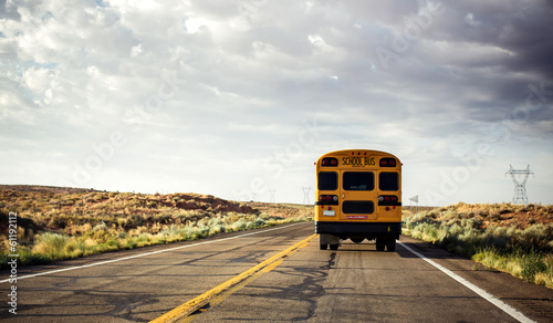 School bus on the road - 61192112