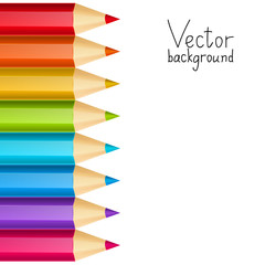 Vector background with color pencils border