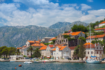 Ancient coastal town Perast, Bay of Kotor, Montenegro