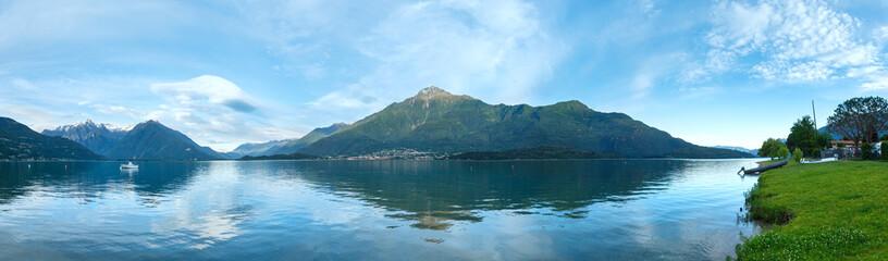 Lake Como (Italy) summer evening panorama