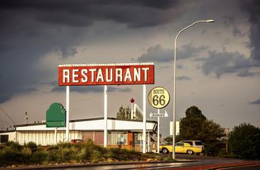 Restaurant sign along Route 66