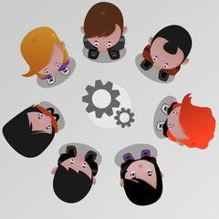 Isolated Vector office people