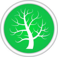 Круглый векторный знак с изображением дерева