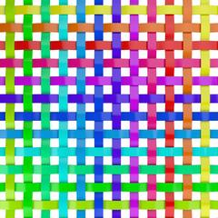 Regenbogen Farben Gitter