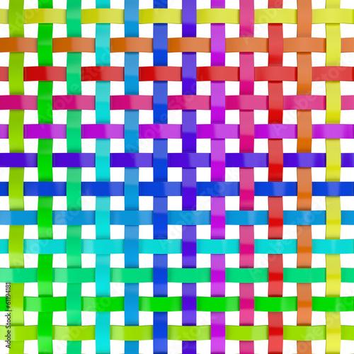 canvas print picture Regenbogen Farben Gitter