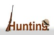 Hunting Sign with Rifle and Hat