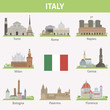 Italy. Symbols of cities