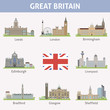UK. Symbols of cities - 61194738