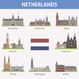 Netherlands. Symbols of cities
