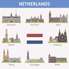 Netherlands. Symbols of cities