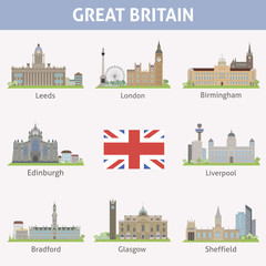 UK. Symbols of cities