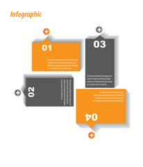 Infographic design - original paper tags.
