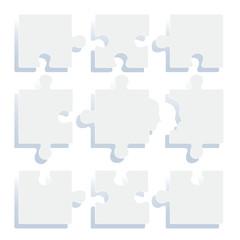 ジグソーパズル.ホワイト