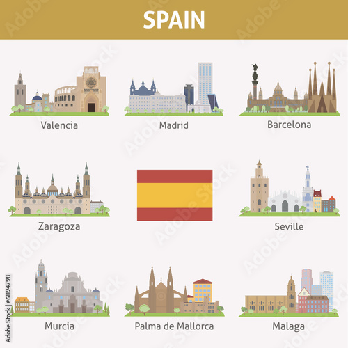 Spain. Symbols of cities