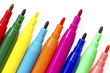 Multi colored felt tip pens