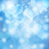 heart shaped bokeh background
