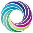 Farbkreis - Logo - grün blau lila