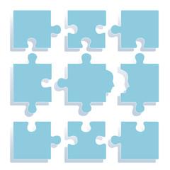 ジグソーパズル.ブルー
