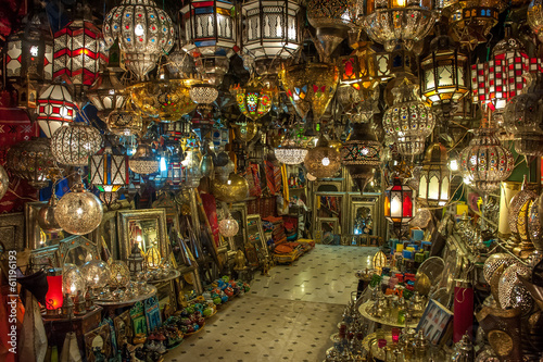 Moroccan antique lamp