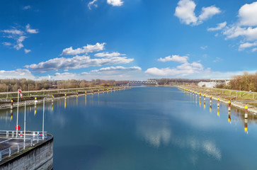 Panorama of the Rhine in Germany