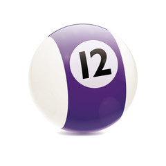 Hyperrealistic Billiard Ball Number 12
