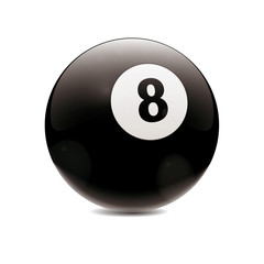 Hyperrealistic Billiard Ball Number 8
