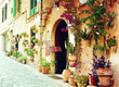 Street in Valldemossa village in Mallorca - 61197105