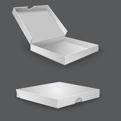 open packing box for pizza vector illustration