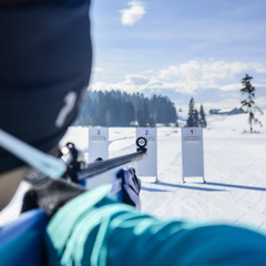 Beim Biathlon