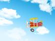 Leinwandbild Motiv cartoon airplane