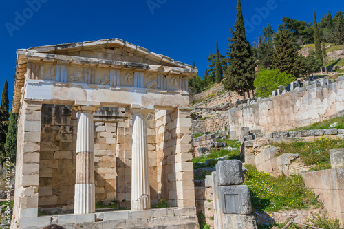 Treasure of the Athenians at Delphi oracle archaeological site