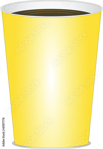 paper yellow glass of drink