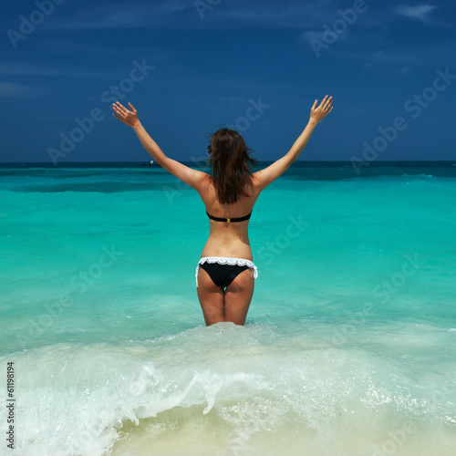 Woman at beach