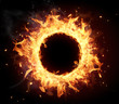 canvas print picture - Fire circle