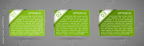 vector green paper option labels