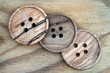 wooden sewing buttons