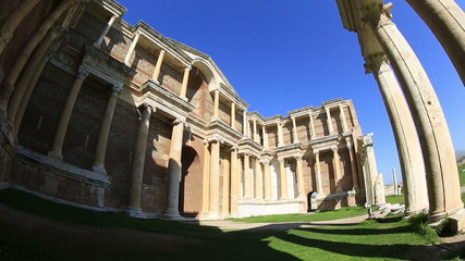 The Gymnasium of Sardis Ancient City at Turkey