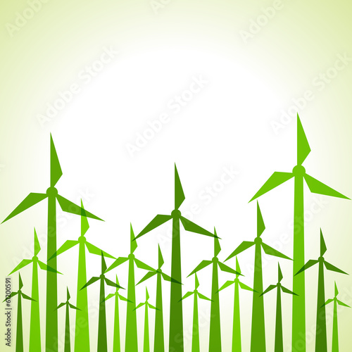 Eco windmills background stock vector
