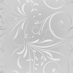 seamless pattern on a silver background