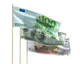 money bills flags