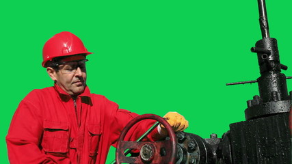 Oil and Gas Worker Green Screen