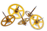 parts of clockwork isolated on white