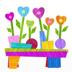 fiori fantasia su tavolino