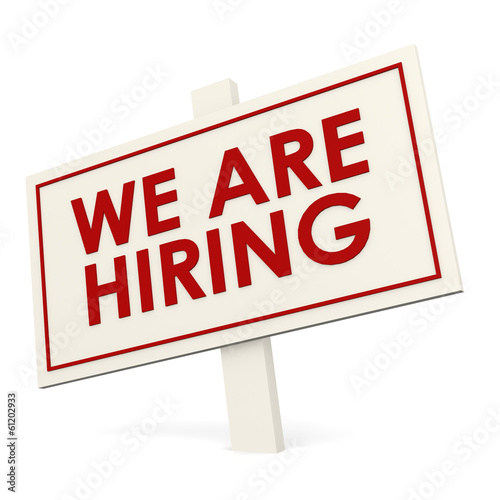 We are hiring white banner