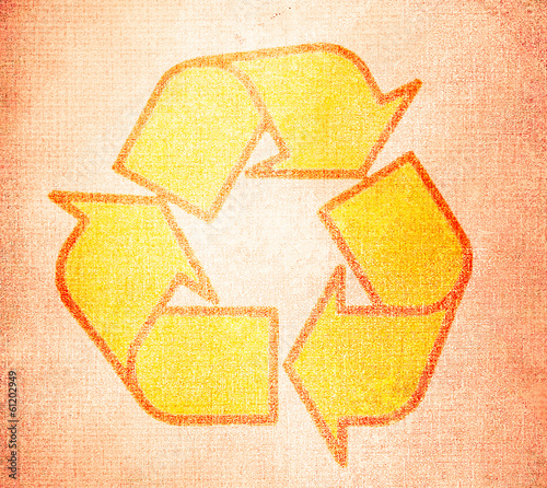 recycle symbol on old textures