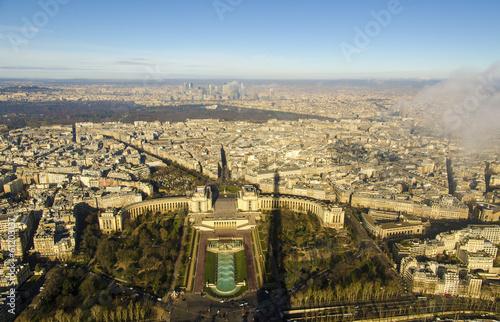 Paris, France - aerial city view