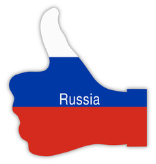 Russland Daumen hoch, Russia thumbs up