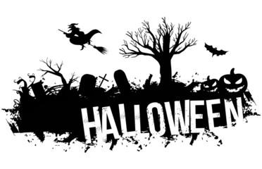 Grunge black Halloween